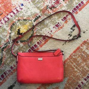 Coach purse in coral color